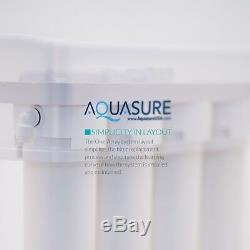 Aquasure Premier Système D'osmose Inverse De Filtration D'eau 75 Gpd 4 Étapes