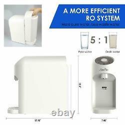 Chaleur Instantanée Système D'osmose Inverse De Filtration D'eau 4stage Ro Filtre Countertop