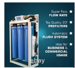 Commercial Grade Reverse Osmose Système De Filtre À Eau 800 Gpd + Booster Pump USA