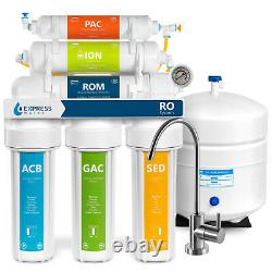 Déionisation Inverse Osmosis Water Filtration System Ro DI Avec Jauge 100 Gpd