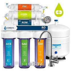 Désionisation Système D'osmose Inverse De Filtration D'eau Claire Avec Jauge 100gpd