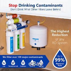 Désionisation Système D'osmose Inverse De Filtration D'eau Ro DI Avec Manomètre 100gpd