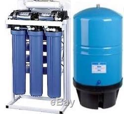 Double Réservoir De La Pompe De Surpression 20g Du Système De Filtration De L'eau Par Osmose Inverse 800 Gpd