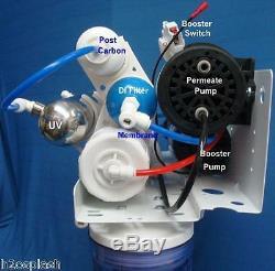 Effacer Système D'osmose Inverse 75gpd 7 Etape Ro / DI / Uv / Booster / Perméat