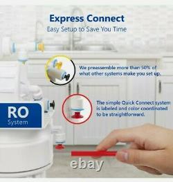 Express Eau Uv Osmose Inverse Ro Système De Filtration 11 Étape, Jauge, 100 Pib