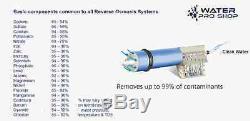 Fabriqué Aux États-unis. Système De Filtre À Eau Par Osmose Inverse 50 Gpd, 5 Étages, 1er Logement Transparent