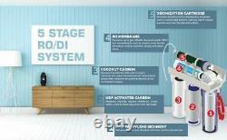 Filtration D'eau De L'aquarium De 5 Étages Filtration D'eau De L'osmose Inverse Ro/di Système 100 Gpd