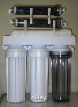 Filtration De L'eau Par Osmose Inverse 6 Étages Ro / DI System 75 Gpd USA