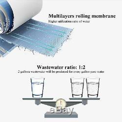 Filtre-75gpd De Filtre D'eau Potable D'osmose D'inversion De Ro De 5 Étapes Avec La Pompe Auxiliaire