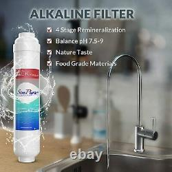 Filtre D'eau À Osmose Inverse À 6 Étages Avec Filtre Minéral 100gpd