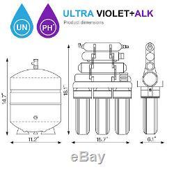 Filtre D'eau De Système De Filtration D'osmose D'inversion De 11 Étapes Maison Boire 100 Gpd