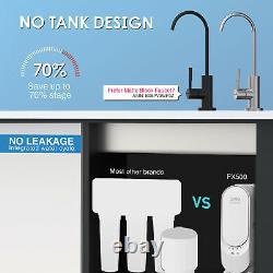 Frizzlife Ro Système De Filtration D'eau D'osmose Inverse 500 Gpd Tankless, Px500