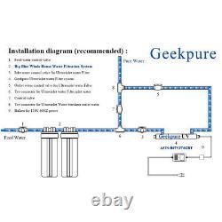 Geekpure 2 Étape Clear Big Blue Système De Filtre Maison Entière 1 Port 10 X 4.5