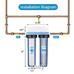 Geekpure 2 Étape Grande Maison Entière Filtre Système Bleu Clair 1 Port 20 X 4.5