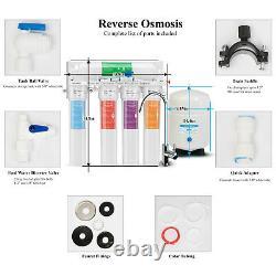 Geekpure 5 Etape Système D'osmose Inverse Avec Quick Change Filter Twist 75 Gpd