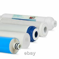 Geekpure 6 Etape Système D'osmose Inverse Filtre À Eau Avec Filtre Alcalin 75 Gpd
