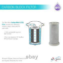 Grand Filtre À Eau De Remplacement De Bloc De Carbone Bleu 10 X 4,5 Wh System 9 Pack