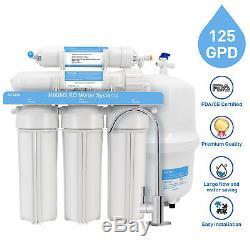 Hikins 5 Étapes Système D'osmose Inverse 125g Sous L'évier De Filtration D'eau Ro