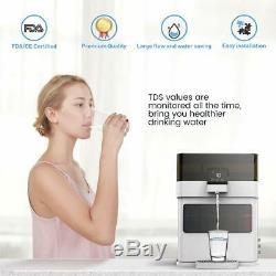 Hikins Système D'osmose Inverse 100gpd Distributeur D'eau Purificateur Countertop 4 Étapes