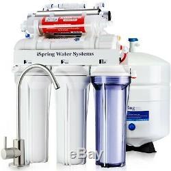 Ispring 7 Scène Sous L'évier Système D'osmose Inverse 75gpd Ro L'eau Alcaline Uv