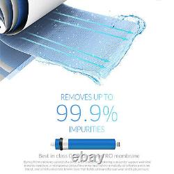 Ispring 7-stage Under-sink Reverse Osmosis System 75gpd Ro Eau Alkaline Uv