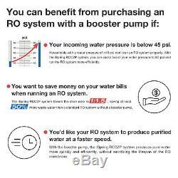 Ispring Rcc100p Osmose Inverse Ro Eau Système De Filtration 5 Stade 100gpd Avec Pompe