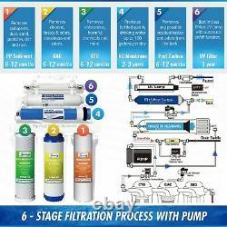 Ispring Rcc1up 6 Étages 100 Gpd Sous Système De Filtration D'eau Potable Sink Ro