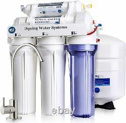 Ispring Rcc7 5-stage 75gpd Système De Filtration D'eau D'osmose Inverse Ro Filtration
