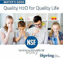 Ispring Rcc7 5-stage 75gpd Système De Filtration D'eau D'osmose Inverse Ro Filtration Nouveau
