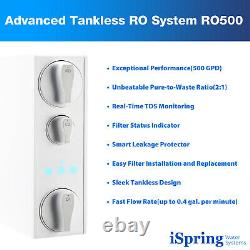 Ispring Ro500 Tankless Ro Reverse Osmosis Water Filtration System 500 Gpd
