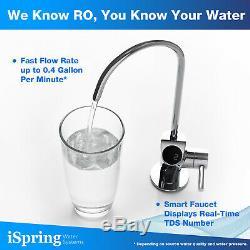 Ispring Ro500 Tankless Ro Système D'osmose Inverse De Filtration D'eau De 500 Gpd De