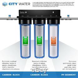 Ispring Wgb32b Triplex 20 Pouces Big Blue Pléniers Système De Filtration D'eau