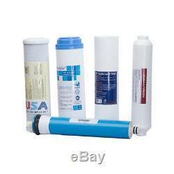 Jeu De Filtres De Remplacement En 5 Étapes Pour Système D'eau À Osmose Standard 50 Gpd