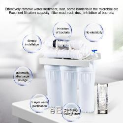 Kit Purificateur De Système De Filtration D'eau À Osmose Inverse Ro Premium 6 Étapes