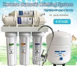 L'eau Pure 5 Etape Système D'osmose Inverse L'eau Potable Plus Un Filtre Sous L'évier