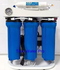 L'osmose Inverse De Filtration D'eau Système Surpresseur Jauge De Pression 400 Gpd