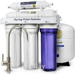 L'osmose Inverse Réseau D'eau Potable Filtration 5 Étapes Sous Le Comptoir / Évier