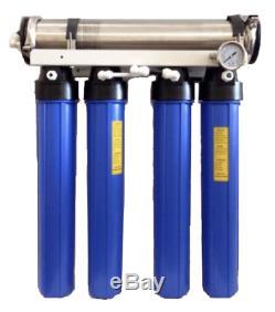 Le Shark 600 Gpd Commercial Osmoseurs Aquarium Rodi Système De Filtration Double DI