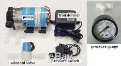 Le Système D'eau D'osmose D'inversion D'ensemble De Pompe D'appoint De Ro Jusqu'à La Valve De Solenod De Pression