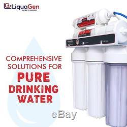 Liquagen 5 Etape Accueil Osmose Inverse Réseau D'eau Potable + 500 Perméat Pompe