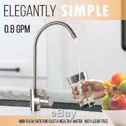 Liquagen 5 Stage Home Système De Filtration D'eau Potable Par Osmose Inverse 75 Gpd