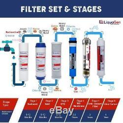 Liquagen 6 Etape Antioxydant Sous L'évier Accueil De L'eau Potable (ro) Système De Filtration