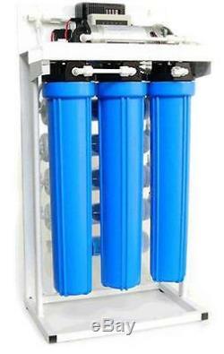Lumière Commercial Osmoseurs De Filtration D'eau Système 300 Gpd + Booster Pompe