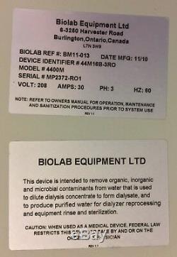 Mar Cor 4400m Hémodialyse Ro Osmose Inverse Système De Purification D'eau De Dialyse