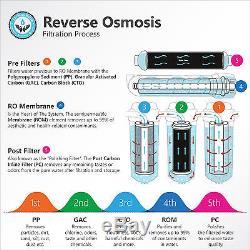 Membrane De Filtre Du Système De Filtration De 50 Gpd D'osmose D'inversion De 5 Étapes Undersink