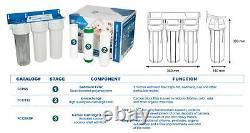 Multi-étape Système De Filtration D'eau Entier Sous Le Comptoir Avec Robinet + 3x Filtre