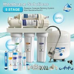 Nsf Osmosis Inversa Filtré De Agua Planta Système D'osmose Inverse 75gpd Sans Puissance