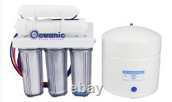 Oceanic 5 Stage Système De Filtration D'eau D'osmose Inverse Avec Boîtier Transparent 50 Gpd USA