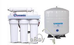 Oceanic Home Pure Système De Filtre À Eau Par Osmose Inoxydable Ro 5 Étapes 75 Gpd USA
