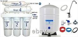 Osmose Inverse Ro Système De Filtration D'eau 100 Gpd 4.4g Réservoir Ro-132 5 Étape